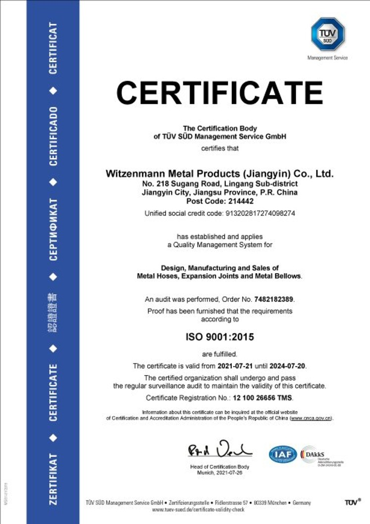 ISO 9001:2015 Certificate Witzenmann China _preview
